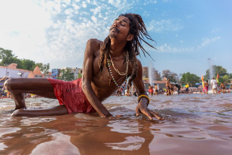 Indien Kumbh Mela Sadhu